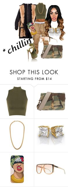 """When you pop"" by slaymeunique ❤ liked on Polyvore featuring Hood by Air, WearAll, Christian Louboutin, Yves Saint Laurent, Claude Montana and Gucci"