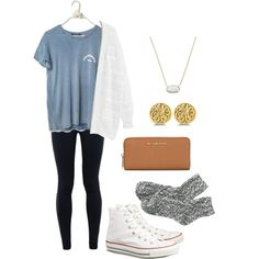 Too cute for school by vineyard-vines-love on Polyvore featuring polyvore, fashion, style, Violeta by Mango, NIKE, J.Crew, Converse, MICHAEL Michael Kors, Kendra Scott and Allurez