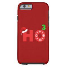 santa laughs at christmas tough iPhone 6 case