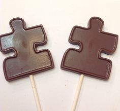 100 Puzzle Chocolate pops
