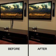 Hide Cable Cords, Hide Tv Wires, Hide Cable Box, Hide Electrical Cords, Cable Box Wall Mount, Hiding Tv Cords On Wall, Hiding Wires Mounted Tv, Home Depot, Hanging Tv