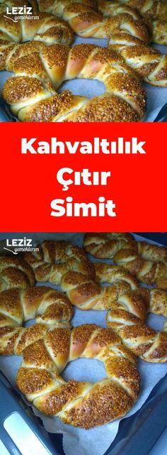 Kahvaltılık Çıtır Simit Salty Snacks, Diet And Nutrition, Food Design, Ham, French Toast, Turkey, Cooking, Breakfast, Simit Pizza