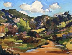 Landscapes | Carla Bosch Beautiful Landscape Paintings, Landscape Artwork, Contemporary Landscape, Contemporary Paintings, Abstract Landscape, Oil Painting Techniques, Artist Painting, Art Images, Art Photography