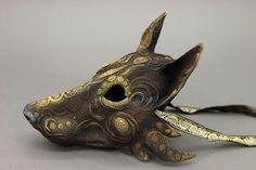 Black wolf mask by hontor fox dog equipment gear magic item Larp, Wolf Mask, Wolf Helmet, Yennefer Of Vengerberg, Fantasy Wolf, Art Populaire, Natsume Yuujinchou, Animal Masks, Cthulhu