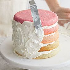 How to make an ombre cake - so cool!!!