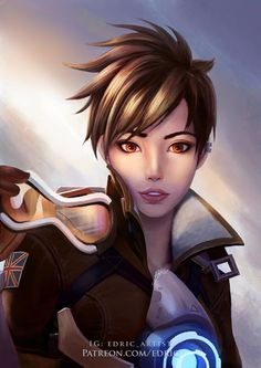 Tracer Off Duty, Edric Yoeliawan on ArtStation at https://www.artstation.com/artwork/yKAz8