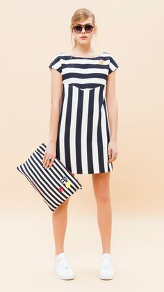 Rue8isquit Striped Dress Chic and stylish, a perfect sailor look