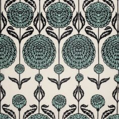 """Joel Dewberry - Birch Farm - Chrysanthemum in Egg Blue, for a throw across the foot of the bed, with coordinate """"Horse Blanket"""" as the dust ruffle."""