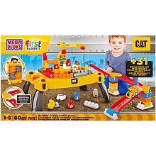 Mega Bloks  First Builders  CAT -  Zoomin Construction Zone (7875)