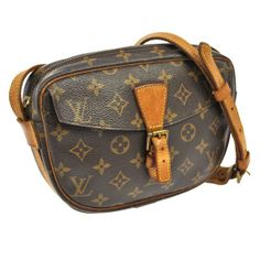 883a97c3e70e Get the trendiest Cross Body Bag of the season! The Louis Vuitton Jeune  Fille Brown Monogram Canvas Leather Cross Body Bag is a top 10 member  favorite on ...