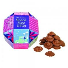 UFOs milk chocolate (with popping candy). Available from The Fine Cheese Co.