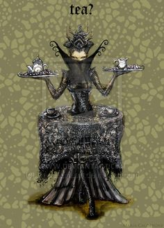 My love for fantastical, impractical fashion is so evident here. I'm in quite a mood for tea after posting this.I think I shall make some black tea. Samurai, Goth, Deviantart, Tea, High Tea, Goth Subculture, Gothic, Teas, Tees