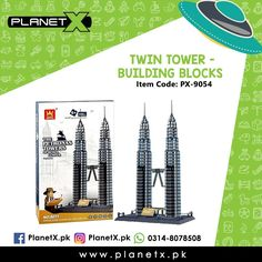 Product: Twin Towers - Building Blocks Item Code: PX-9054 Price: Rs 4750  @planetx.pk  Whatsapp: 03148078508  Description: - LEGO COMPATIBLE - Enhances childs creativity and imagination. - Interlocking Blocks - Type: Building Blocks - Color: Multi-Color - Weight: 1.5 kg - Age: 3 years  #CashOnDelivery #Pakistan #Karachi #Islamabad #Lahore #PlanetX #PakistanShopping #LikeForLikes #F4F #FollowForFollow #LearningKids #Toy #InstagramPakistan #ShopNow #OrderNow #TwinTower #Malaysia…