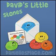 David's Little Stones Craft from www.daniellesplace.com for Children's Sunday School