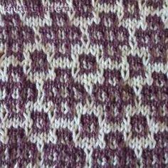 Узор для вязания спицами Ковровый узор