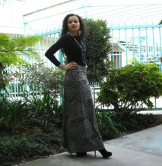 ON SALE Maxi Skirt with Foldover Waistband by lanationclothing, $27.00