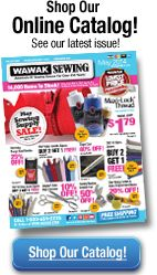 WAWAK: crazy amount of different supplies here, good prices. This is where I buy iron-on interfacing because you can get it in 2 inch wide rolls.