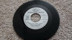 Dinah-Washington-45-rpm-White-Label-Our-Love-is-Here-to-Say-Record