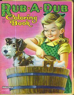 1940s-50s-RUB-A-DUB-Coloring-Book-Saalfield-Publishing-4512-unused