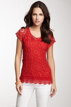 Ella Moss Charlotte Crochet Top