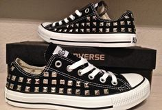 Studded Converse Shoes FULLY STUDDED by DonishDesigns on Etsy, $100.00