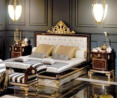 Bed Furniture, Furniture Design, Luxury Bedroom Design, Bedroom Design, Luxury Furniture, Luxury Bedroom Furniture, Classic Bedroom Design, Classic Bedroom, Vintage Furniture Design