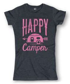 Look at this Heather Blue 'Happy Camper' Tee on today! Camp Shirts, Vinyl Shirts, Tee Shirts, Happy Campers, Camping With Kids, Camping Ideas, Girls Camp, Shirt Designs, T Shirts For Women