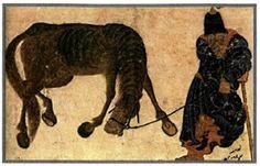 """"""" Μετά τη μάχη του Ματζικέρτ (1071) τούρκοι νομάδες πλημμύρισαν τη Μ.Ασία. Μικρογραφία που εικονίζει τουρκομάνο ιππέα  (Κωνσταντινούπολη, Βιβλιοθήκη Τοπκαπί) """" (από το σχολικό βιβλίο σελ. 58)"""