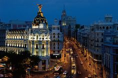 Madrid - Spain's capital and largest city, Madrid, is widely known for its sizzling nightlife scene. Home to a number of universities, the city constitutes a diversity of ethnic groups, making it one of Europe's most colorful cosmopolitan cities.