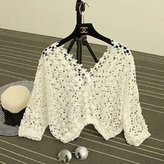 Crochet Cardigan, Knit Or Crochet, Pattern, Clothes, Dresses, Mlb, Fashion, Crochet T Shirts, Free Crochet
