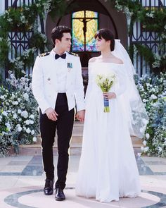 Wedding Poses, Wedding Dresses, Wedding Ideas, Cameron Alexander Dallas, Thai Drama, Best Couple, The Crown, Celebrity Couples, Traditional Dresses