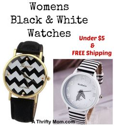 Black and White Watches LOW PRICE perfect stocking stuffer! Fashion for less