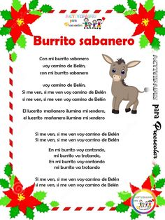 Mexican Christmas, Christmas Carol, Christmas Time, Spanish Classroom Activities, 2nd Grade Activities, Spanish Language Learning, Teaching Spanish, Baby Storage, Spanish Songs