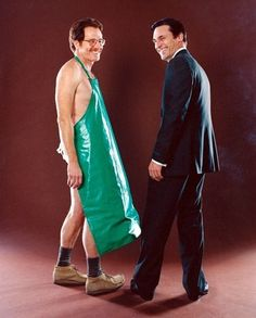 When TV worlds collide. Walter White and Don Draper — two of our favorite TV characters.