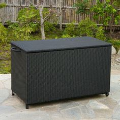 637162150375 Freeport Black Wicker Cushion Box