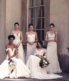 Ten wedding dresses by Anne Barge for the foldout cover page celebrating the 10th Anniversary of Modern Luxury Weddings Atlanta Magazine. (page 2 shown)
