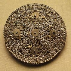 9th century silver disc brooch, late Anglo-Saxon. British Museum