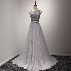 9ab6794d9a9 Gray Mother Of Bride Dress A-Line Sleeveless Mother Dress 2017 Hand Made  Beaded Lace