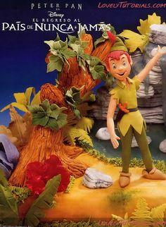 Gumpaste (fondant, polymer clay) Peter Pan, Captain Hook, Tinker Bell figure making tutorials