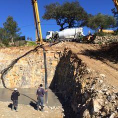 21 januari de basis vloer word gestort, de 3de betonwagen