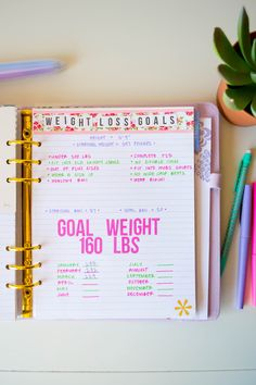 Keeping Track of Weight Loss in My Planner @erincondren @medifast