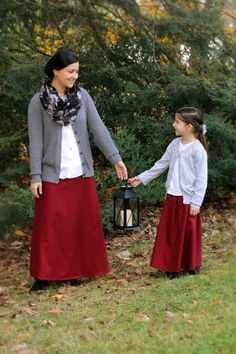 Lilies of the Field, modest and feminine customizable dresses, skirts and swimwear for ladies and girls. Modest Skirts, Modest Wear, Modest Outfits, Girl Outfits, Cute Outfits, Fashion Outfits, Modest Clothing, Ladies Outfits, Modest Apparel