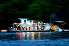 Evening cruise on the Lake Austin Riverboat in Austin, Texas