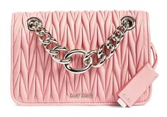 Millennial Pink is Most Important Color: Check Out 20 Great Bags in the Super-Wearable Shade Tan Shoulder Bag, Shoulder Handbags, Leather Crossbody, Leather Handbags, Miu Miu Handbags, Red Purses, Cross Body Handbags, Club, Red Leather