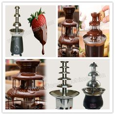Link: http://amisyfoodmachine.com/product/snack-machinery/chocolate-fountain-machine.html Email: info@amisymachine.com Chocolate fountain machine is a special equipment for serving chocolate fondue. It typically consits of a stepped cone standing 2-4 feet, and stacked tiers over a basin of the bottom. The chocolate in a liquid state flows over the tiers forming a chocolate waterfall in which the food stuffs like cookies, strawberries, etc.