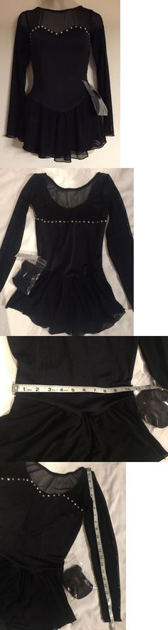 Skating Dresses-Girls 21226: Figure Skating New Dress Child 12 14 Xl (Adult Xs) Black Nwt Ice Crystals Test C -> BUY IT NOW ONLY: $59.99 on eBay!