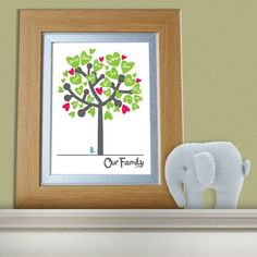 Personalised Family Tree Print | Gifts For Families | House Warming Present