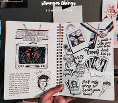 (notitle) Source by Stranger Things Season Two, Stranger Things Netflix, Stranger Things Aesthetic, Arte Sketchbook, Art Journal Pages, Journal Ideas, Bullet Journal Inspiration, Book Art, Artsy
