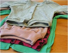Feather's Flights {a creative, sewing blog}: Baby Girl Cardigans
