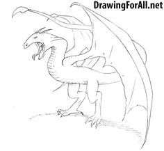 How to Draw a Wyvern. Learn to draw a Wyvern from fantasy and Dungeons and Dragons with this drawing tutorial: http://www.drawingforall.net/how-to-draw-a-wyvern/